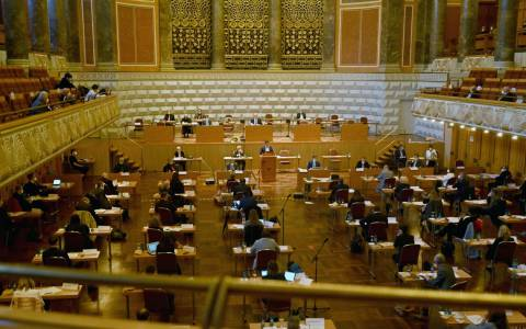 Stadtverordnetenversammlung im Kurhaus.