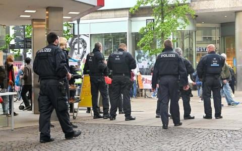 Polizeiaufgebot Neugasse / Schulgasse
