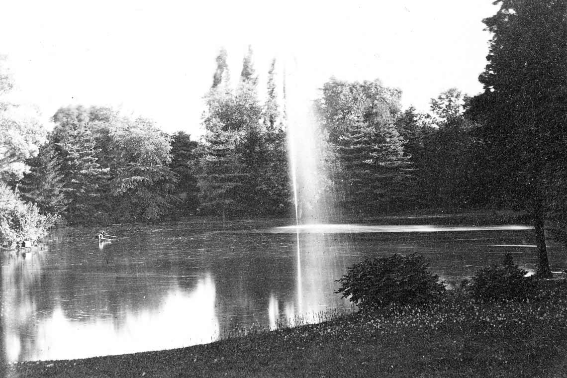 Warmer Damm, historische Aufnahme von 1880, Fotograf unbekannt.