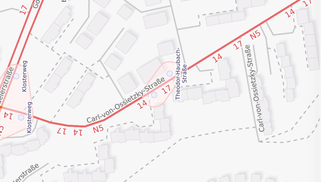 Carl-von-Ossietzky-Strasse in Klarenthal