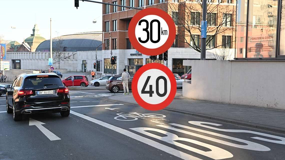Tempo 40 und 30 werden unabhängig von Formfehler weiterverfolgt