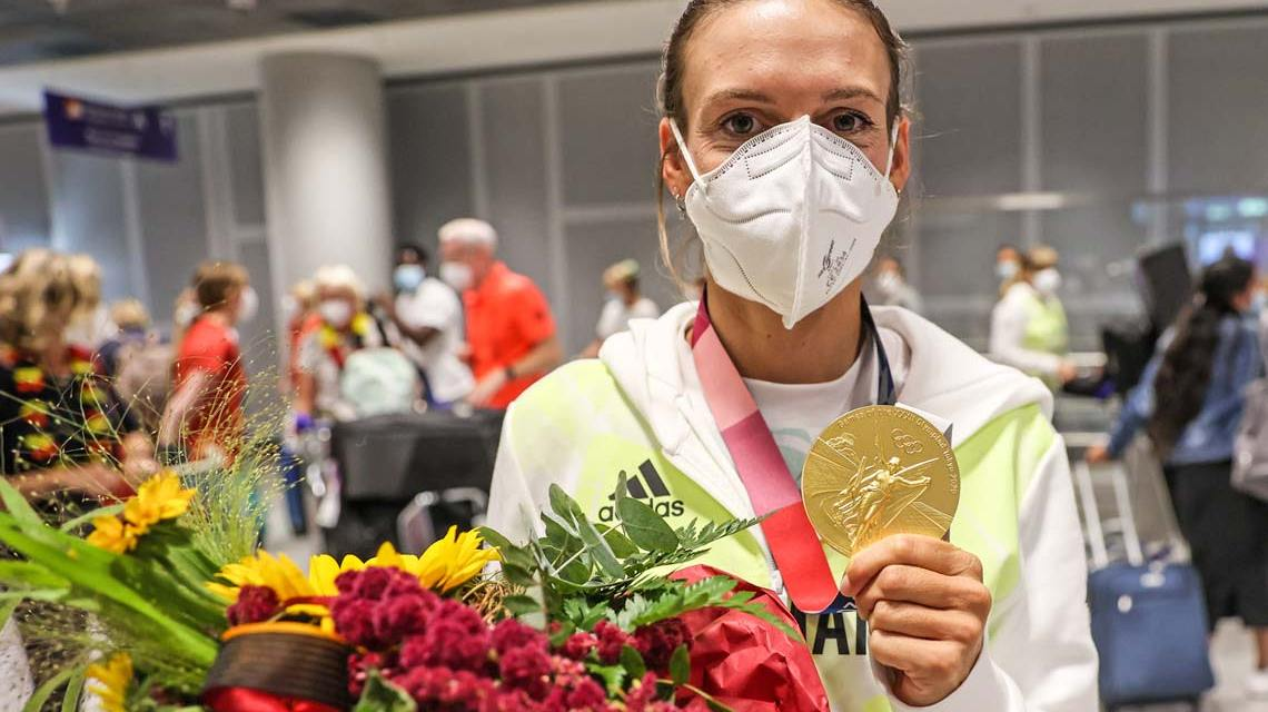 Ricarda Funk, Goldmedaillengewinnerin im KI Frauen, Slalom