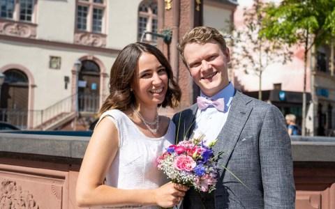 Lena Bernhard und Martin Schwartz haben sich getraut.