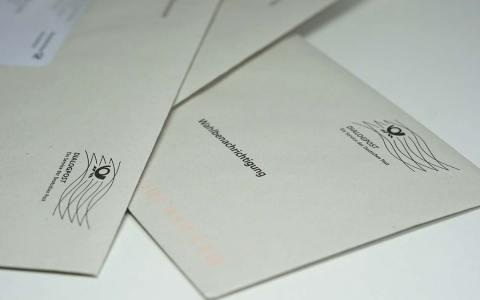 Wahlbenachrichtigung zur Bundestagswahl wird zugestellt