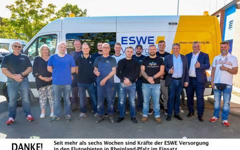 ESWE Mitarbeiter im Einsatz