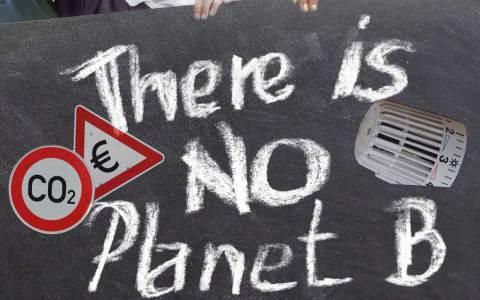 Klimaschutz, die Gewerkschaften rufen zur Kundgebung auf.