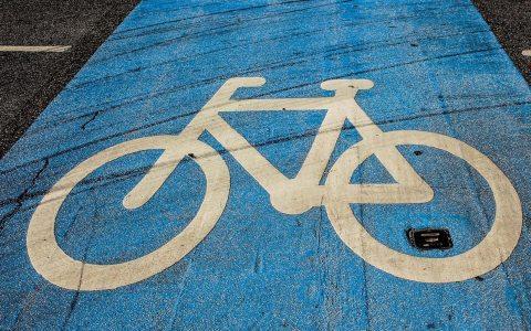 Fahrrad: Radweg Piktogramm