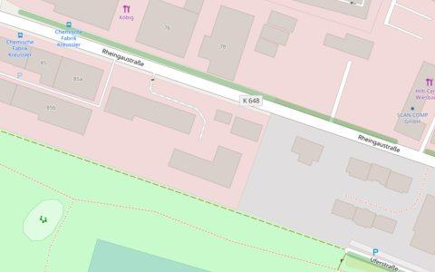 Einrichtung von Ladezonen auf der Rheingaustraße in Biebrich