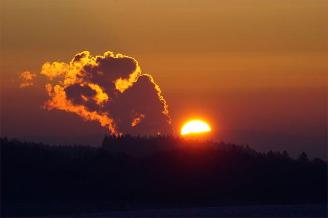 Sonnenkraftwerk - Sonnenaufgang am 14,11,2016