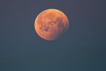 Mondfinsternis, fast vorbei