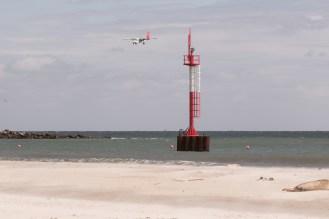 Flugverkehr auf der Düne von Helgoland
