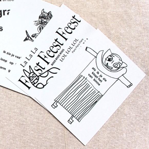 detail of Poetry cards 'DichtErBij'