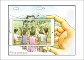 """iPhone generation"" - Postcard"