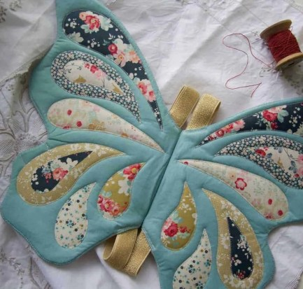 Wife-made Butterfly Wings in Tilda's Memory Lane