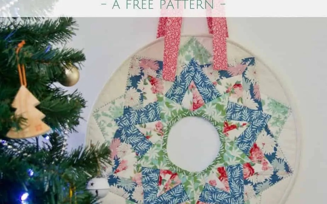 Christmas Wreath Mini Quilt & Tilda Cottage | A Free Pattern!