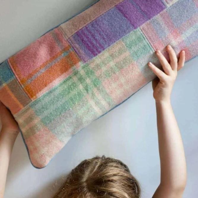 Wife-made Patchy Wool Cushion - Big Lumbar