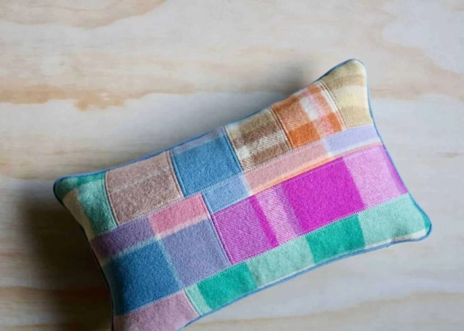 Wife-made Patchy Wool Cushion - Little Lumbar
