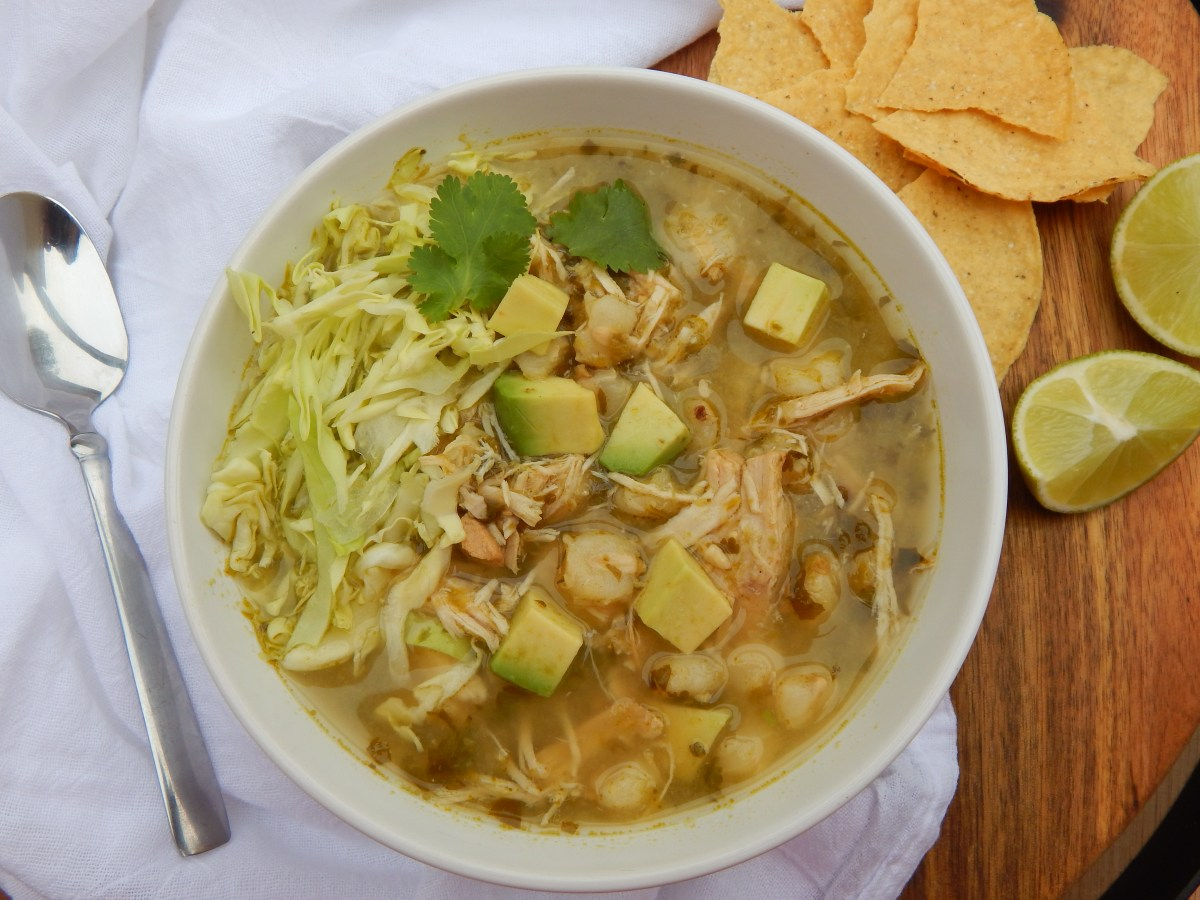 Slow Cooker Chicken Pozole Verde