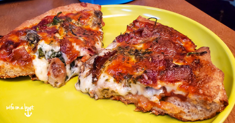 Smoked Oyster Deep Dish Pizza
