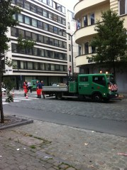 These, dear readers, are the hard-working men who keep the streets of Brussels in such good condition