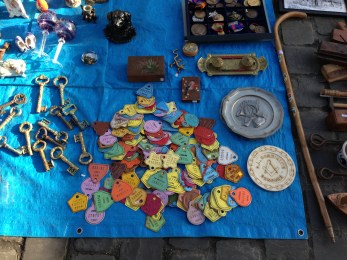 Colourful 'objets' Tongeren antiques market