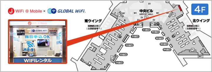 成田空港のカウンター