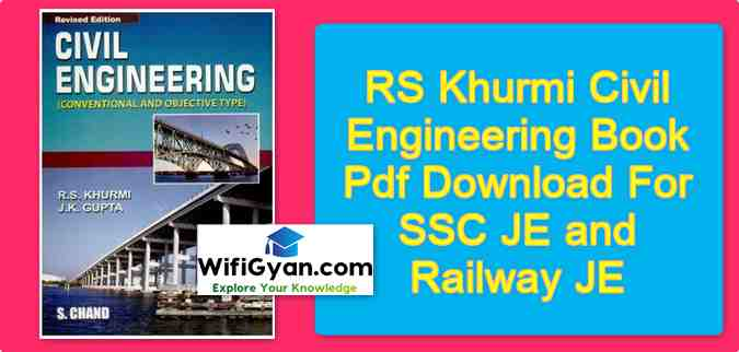 RS Khurmi Civil Engineering Book Pdf Download For SSC JE and Railway JE