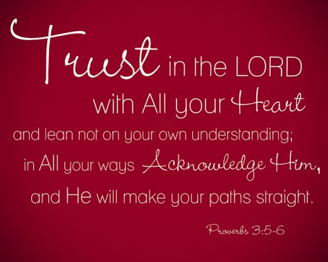 Trust in the Lord Proverbs 3-5-6
