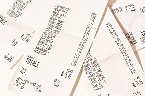 scontrini della spesa