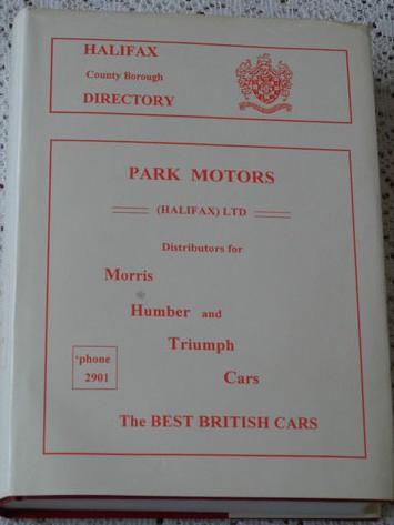 Halifax County Borough Directory 1936 Facsimile
