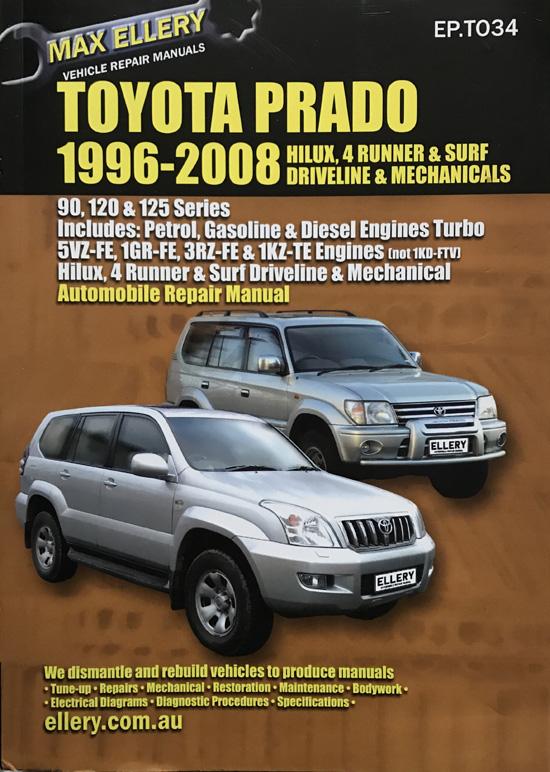Toyota Prado 1996-2006 (Max Ellery Vehicle Repair Manual)
