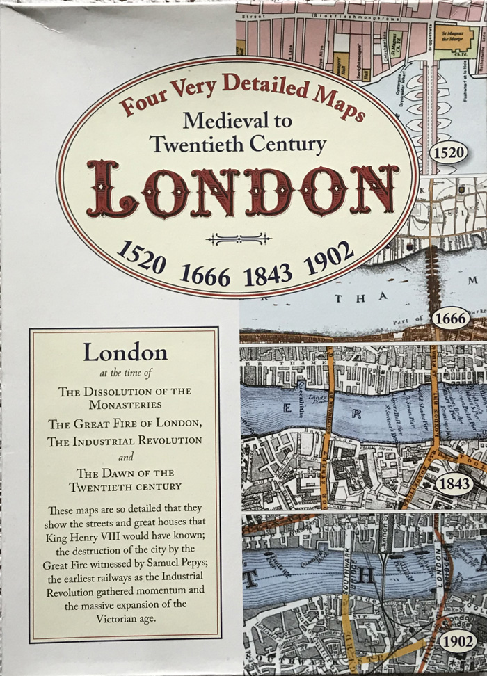 Medieval to Twentieth Century London: Four Very Detailed Maps 1520 to 1902