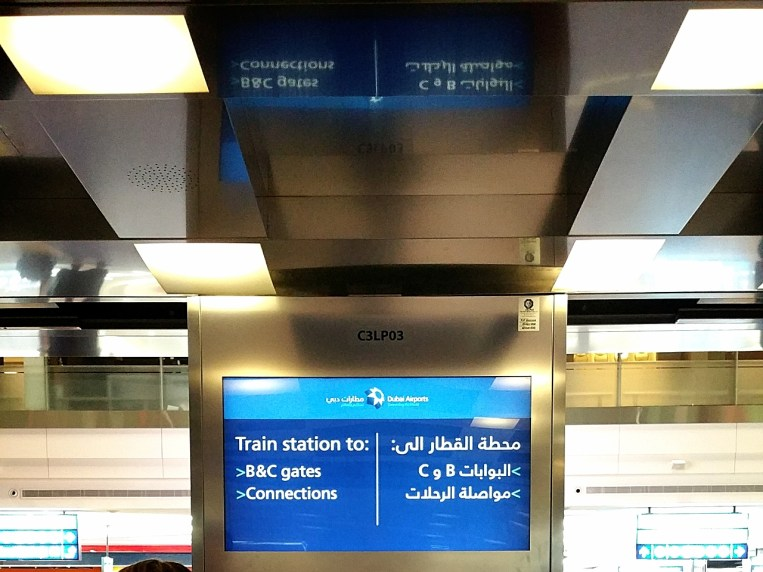 Landed in Dubai for transit to New York