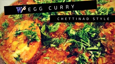Egg Curry – Chettinad Style