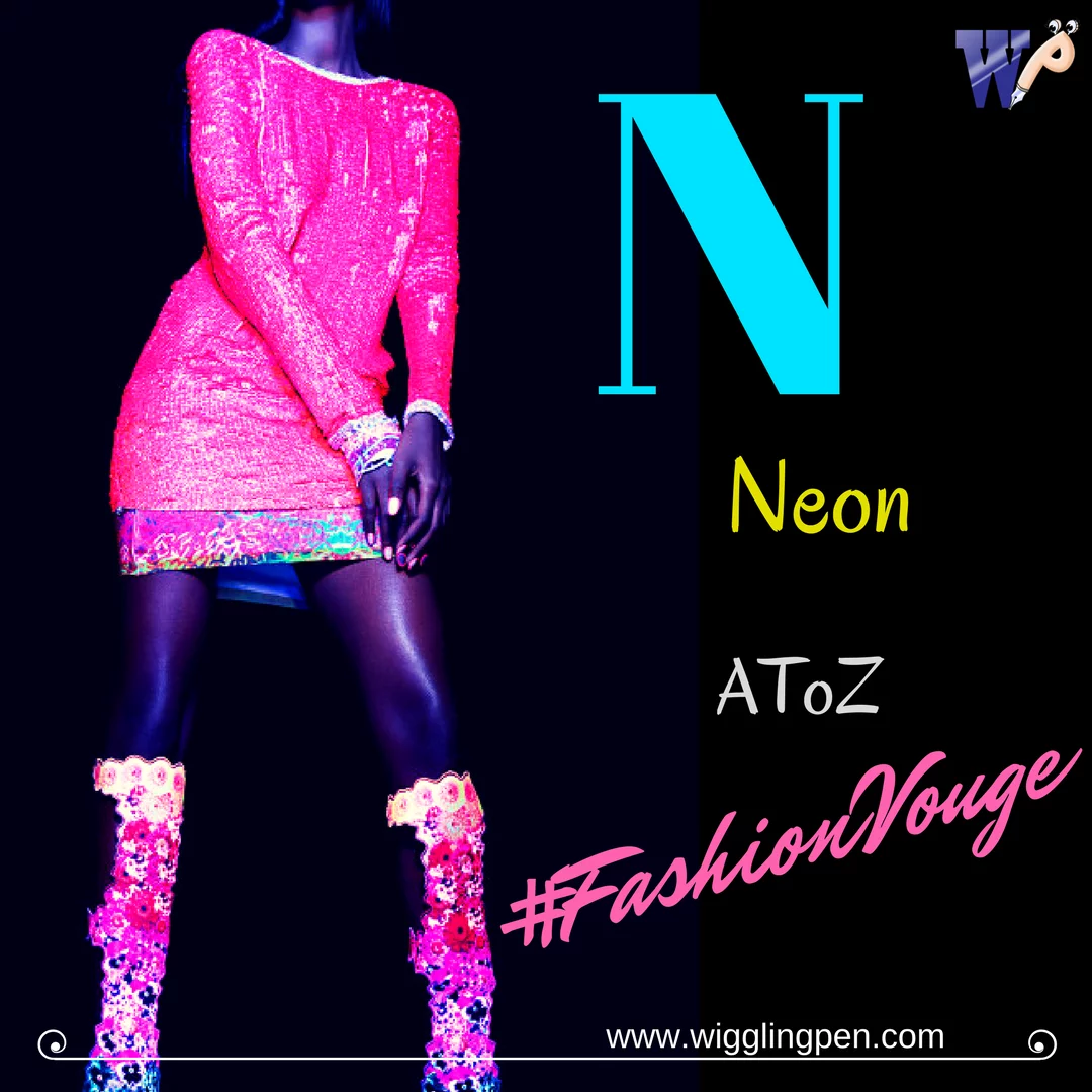 Neon fashion is most bright and trendy style of future