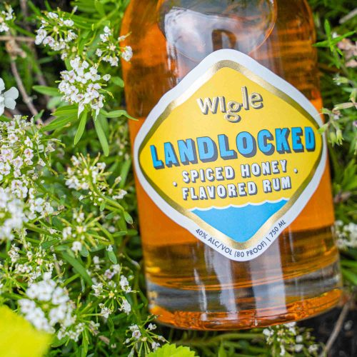 Landlocked Spiced Honey Rum with Flowers