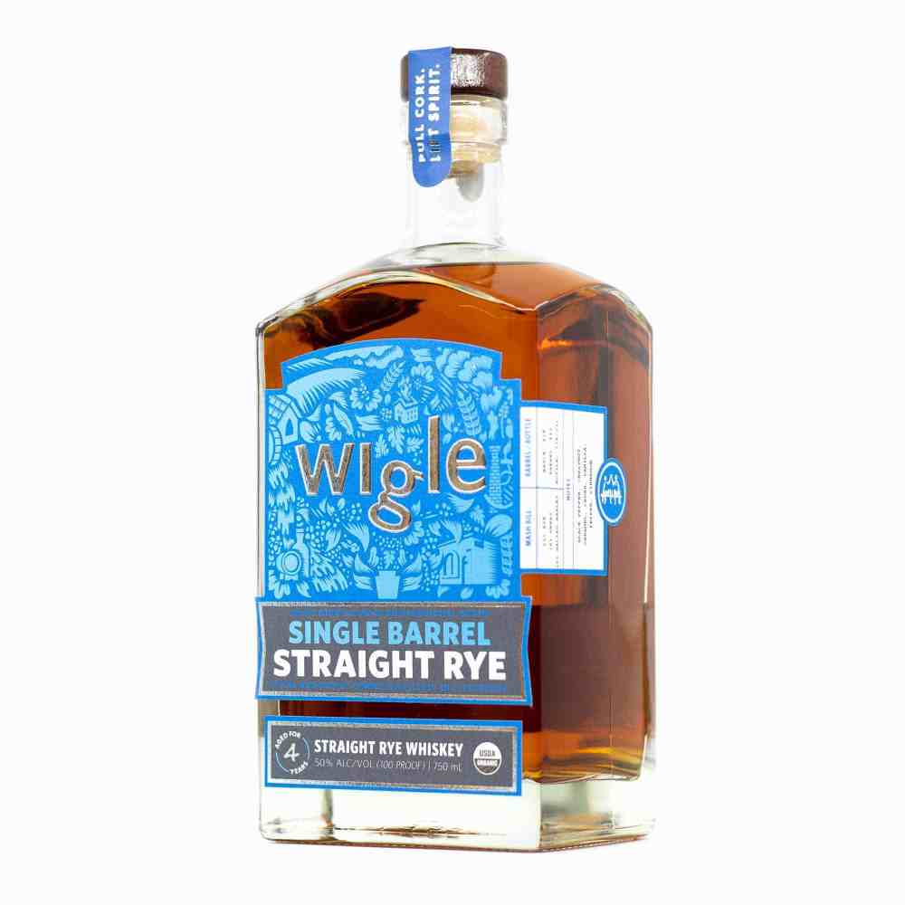 Wigle Whiskey Straight Rye Whiskey Bottle