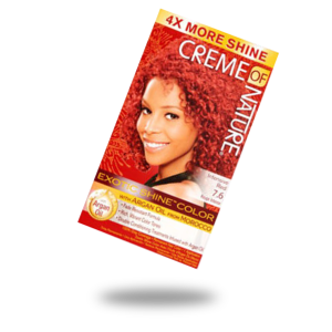 creme of nature exotic shine and color intensive red