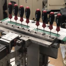 Screwdrivers just being stamped at the Wiha Factory