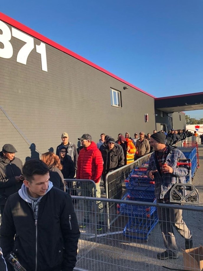 Lines outside Atlas Machinery 2019 Open House