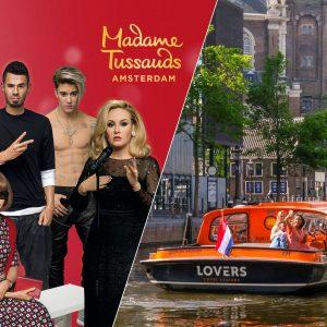 Fast-track ticket Madame Tussauds Amsterdam en een rondvaart van 1 uur