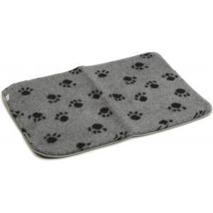 Vetbed voor hondenbench grijs 78 x 55 cm