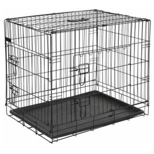 Homestyle Bench 2-Deurs Zwart - Hondenbench - 92.5x57.5x64 cm