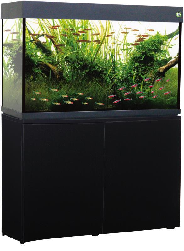 Trofis Colisa A-1000 Zwart - Aquarium + LED -