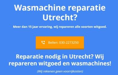 Wasmachine laten repareren Utrecht?