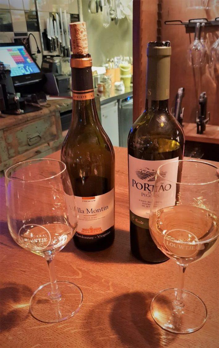 wijnen bij wijnbar Louwtje