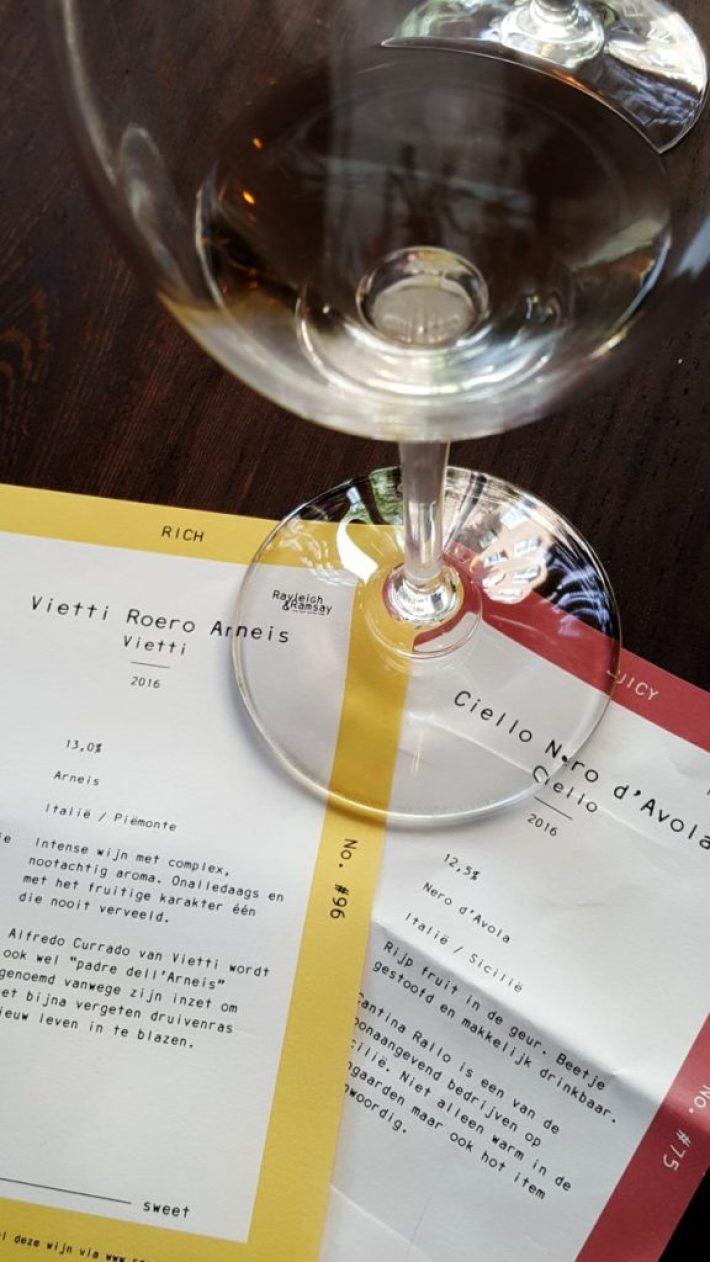 wijncafé Rayleigh & Ramsay: informatiekaarten
