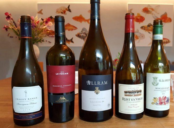 restaurant Fris in Haarlem: wijn line up