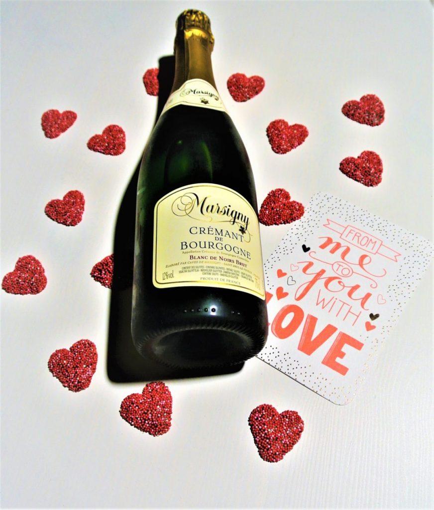 Crémant wijn op valentijnsdag