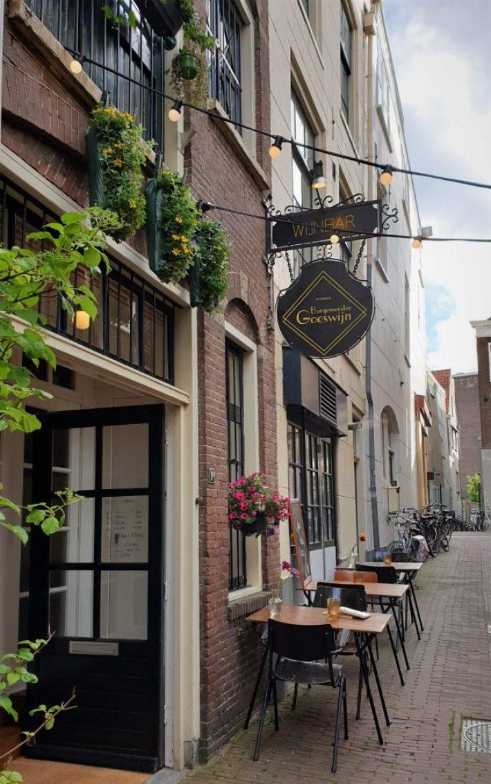 Leuke restaurants Leiden: wijnbar Burgemeester Goeswijn